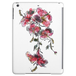 Tropical hibiscus flowers iPad air case