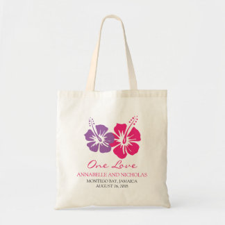 Tropical Hibiscus Flowers Wedding Guest Budget Tote Bag