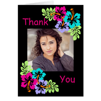Tropical Hibiscus - Graduation Thank You Note Card