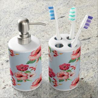Tropical Hibiscus Hawaiian Floral Customizable Bathroom Set
