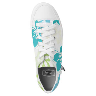 Tropical Hibiscus Hawaiian Luau floral shoes