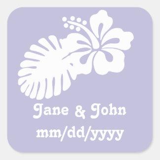 Tropical Hibiscus in Lavender Sticker