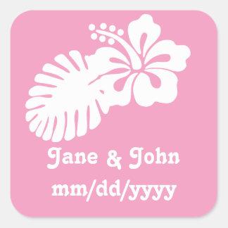 Tropical Hibiscus in Petal Pink Sticker