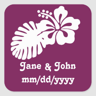 Tropical Hibiscus in Wine Sticker