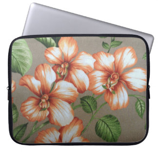 Tropical Hibiscus Laptop Computer Sleeves