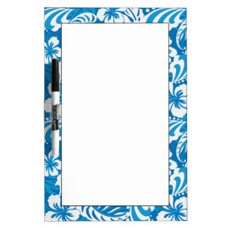 Tropical Hibiscus Pattern Dry Erase Board