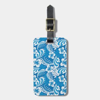 Tropical Hibiscus Pattern Luggage Tag