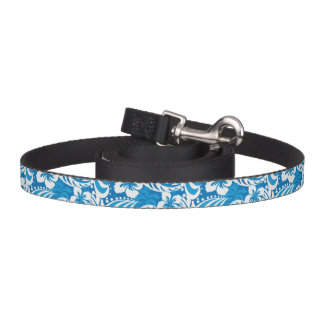 Tropical Hibiscus Pattern Pet Leash