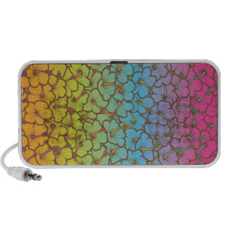 Tropical Hibiscus pattern iPhone Speakers