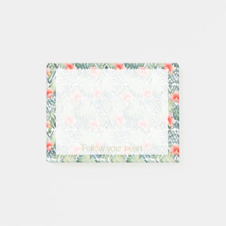 Tropical Hibiscus Tribal Floral Post-it Notes