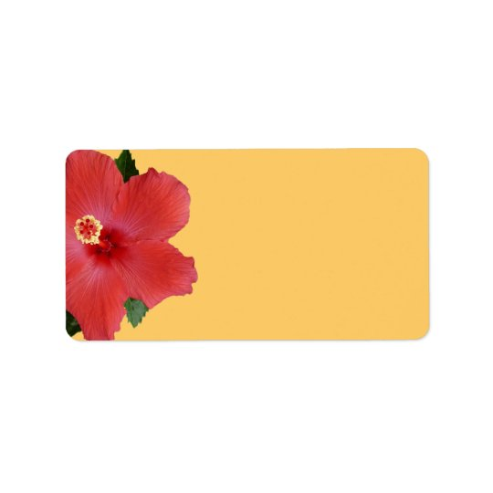 Tropical Hibiscus Wedding or General Blank Address Address Label