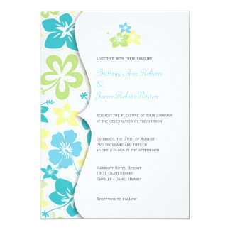 Tropical HibiscusWedding or Bridal Shower Invites