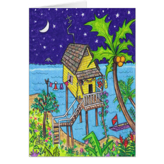 Tropical Holiday Card