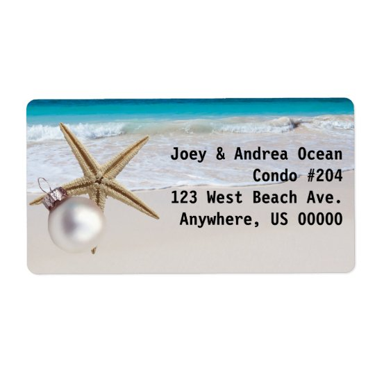 Tropical Holiday Custom Address Labels Large
