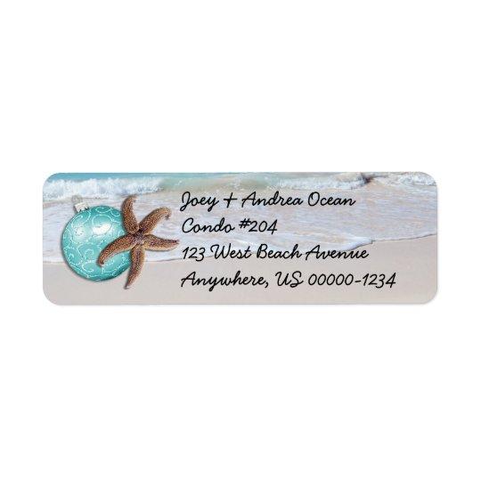 Tropical Holiday Ocean Starfish Return Address Return Address Label