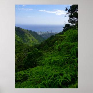 Tropical Honolulu Poster