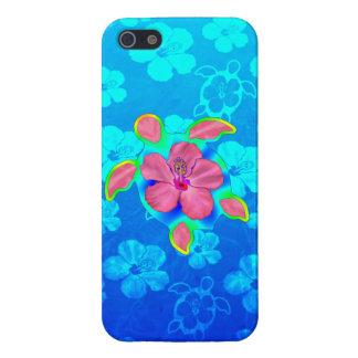Tropical Honu Turtle and Hibiscus Case For iPhone 5/5S