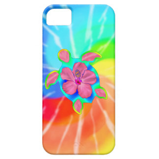 Tropical Honu Turtle and Hibiscus Case For The iPhone 5