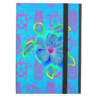 Tropical Honu Turtle and Hibiscus iPad Air Cover