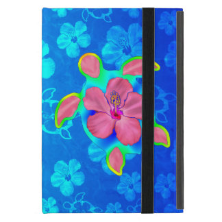 Tropical Honu Turtle and Hibiscus iPad Mini Case