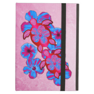 Tropical Honu Turtles And Hibiscus Flowers iPad Air Cover