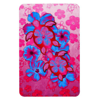 Tropical Honu Turtles And Hibiscus Flowers Magnet