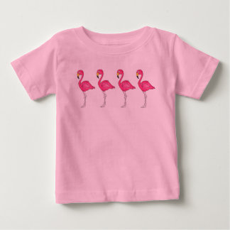 Tropical Hot Pink Flamingo Island Bird Paradise Baby T-Shirt