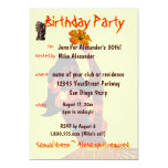 Tropical Hula GIrl Birthday Party Custom Announcement