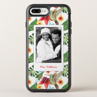 Tropical Hummingbird | Add Your Photo & Name OtterBox Symmetry iPhone 8 Plus/7 Plus Case