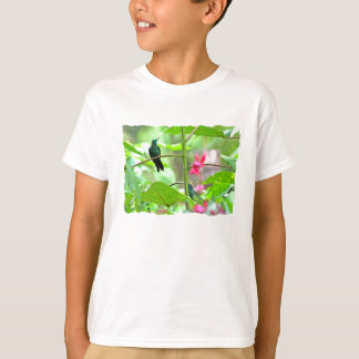 Tropical Hummingbird and Flowers T-Shirt