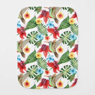 Tropical Hummingbird Baby Burp Cloth