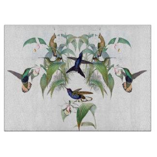 Tropical Hummingbird Birds Flowers Cutting Board