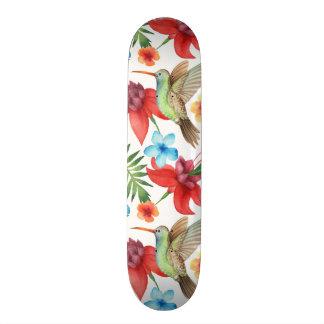 Tropical Hummingbird Custom Skate Board