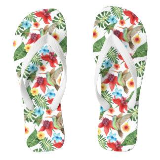 Tropical Hummingbird Flip Flops