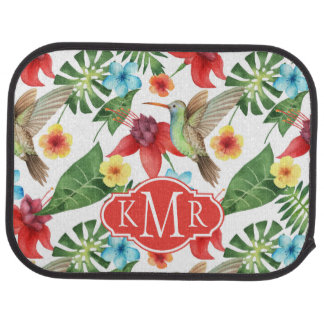 Tropical Hummingbird | Monogram Car Mat