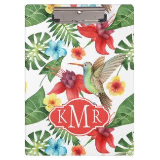 Tropical Hummingbird | Monogram Clipboard