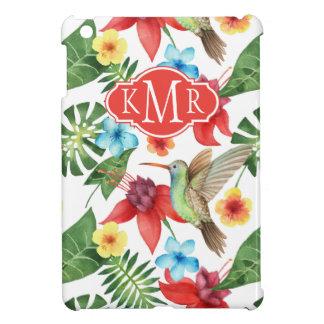 Tropical Hummingbird | Monogram iPad Mini Covers