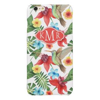 Tropical Hummingbird | Monogram iPhone 6 Plus Case