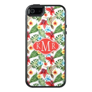 Tropical Hummingbird | Monogram OtterBox iPhone 5/5s/SE Case