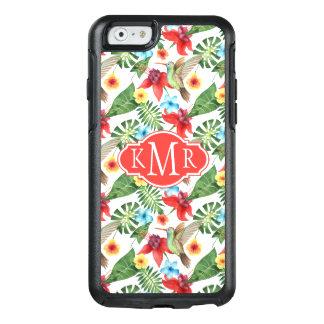 Tropical Hummingbird | Monogram OtterBox iPhone 6/6s Case