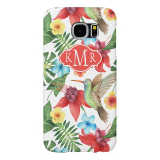 Tropical Hummingbird | Monogram Samsung Galaxy S6 Cases