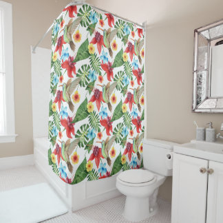 Tropical Hummingbird Shower Curtain