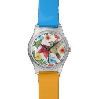 Tropical Hummingbird Wrist Watch