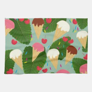 Tropical Ice Cream Tea Towel