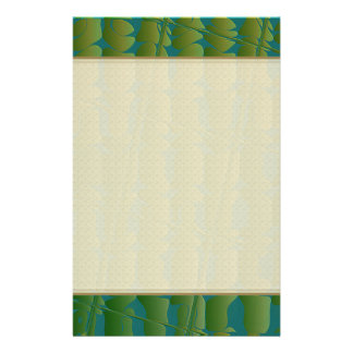 Tropical Inspired Pattern Customized Stationery