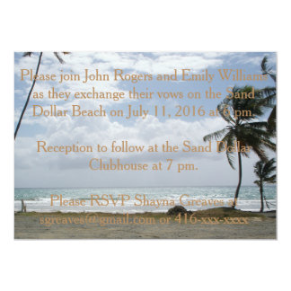 Tropical Invites-Palm Trees Card