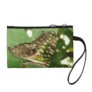 Tropical Iridescent Green Butterfly Bagettes Bag