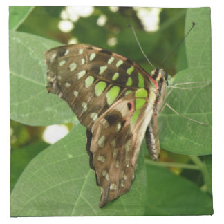 Tropical Iridescent Green Butterfly Napkins