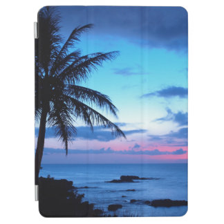 Tropical Island Beach Ocean Pink Blue Sunset Photo iPad Air Cover