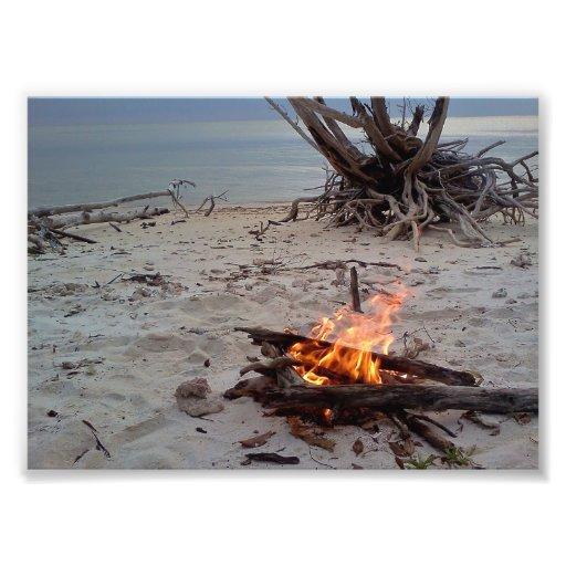 Tropical Island campfire Photograph